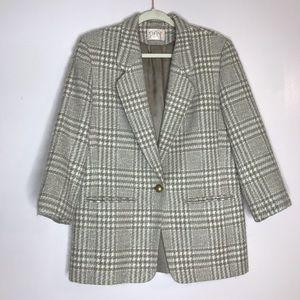 Pendleton Jackets & Coats - Vintage Pendleton virgin wool plaid blazer jacket